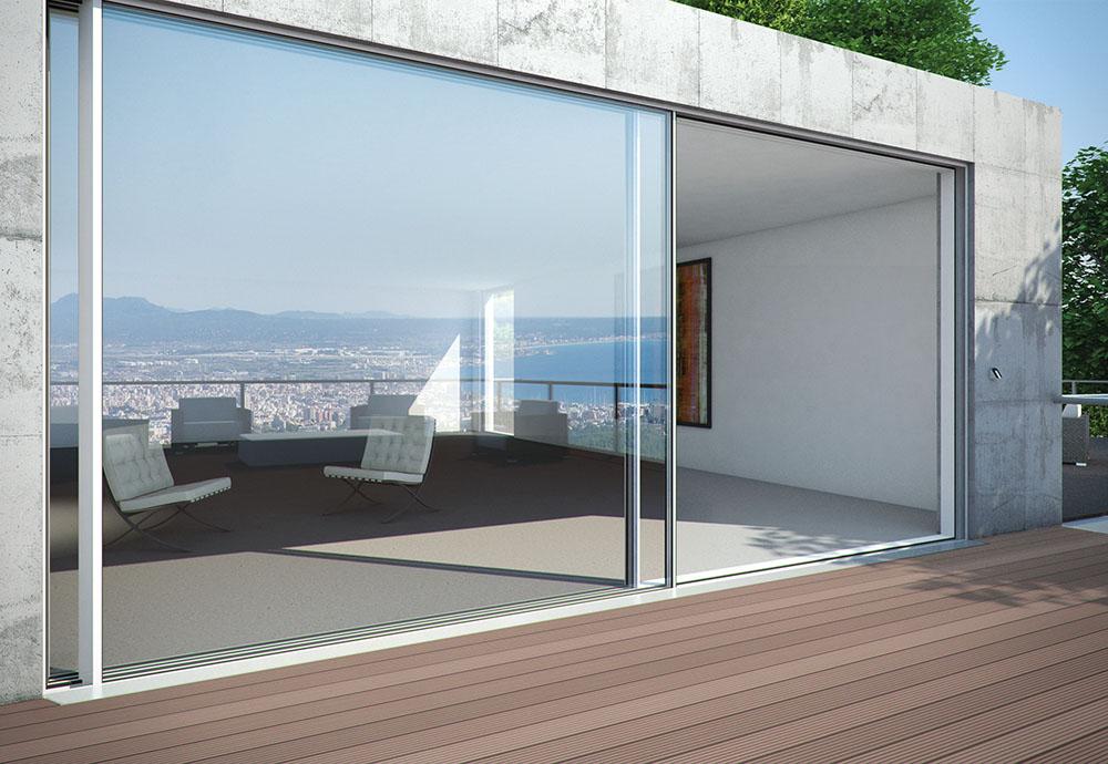 Schuco ass 77 pd aluminium sliding door in london utopia for Finestra motorizzata prezzo